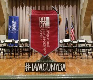 CUNY BA Banner and hashtag #IAMCUNYBA