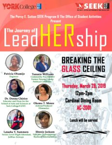 York College - Journey of LeadHERship- 3-28-19