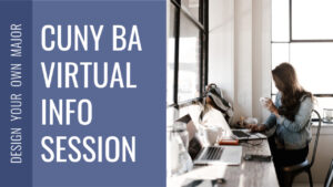 CUNY BA Info Session grey blue