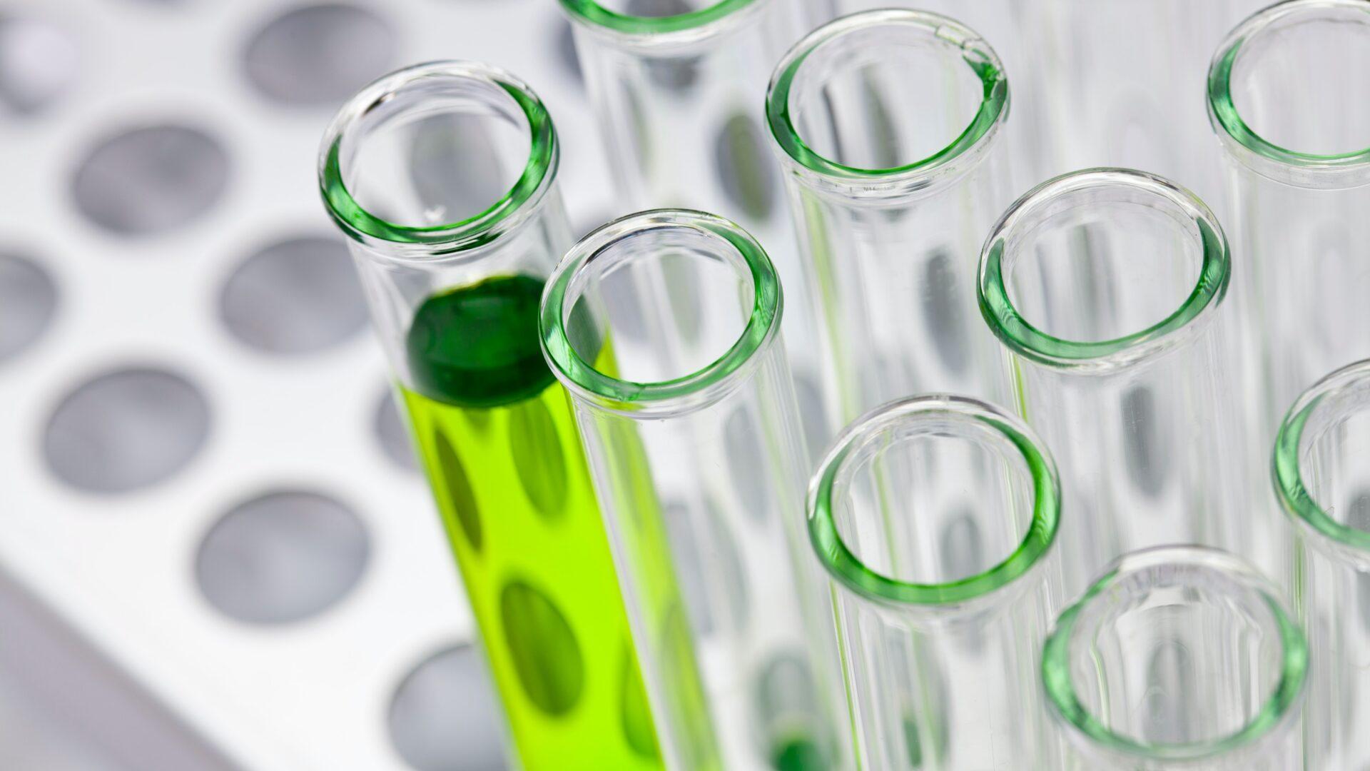 green liquid in test tube