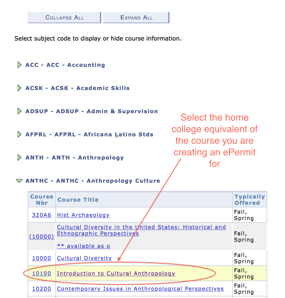 select home college equivalent course- annotated